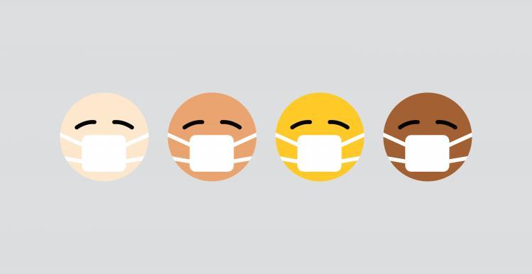 Emoji's wearing masks