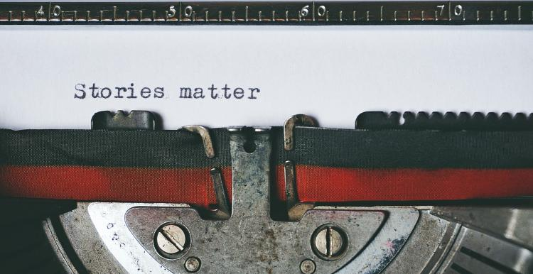 stories matter typewriter