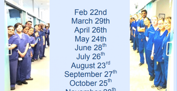 A list of dates fro the upcoming carers cafe