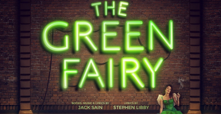 The green fairy written in green neon lights