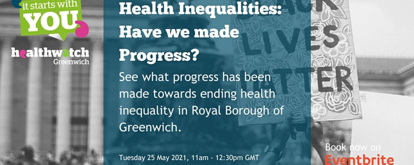 Healthwatch Greenwich event cover photo