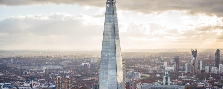 southwark london skyline shard concrete buildings