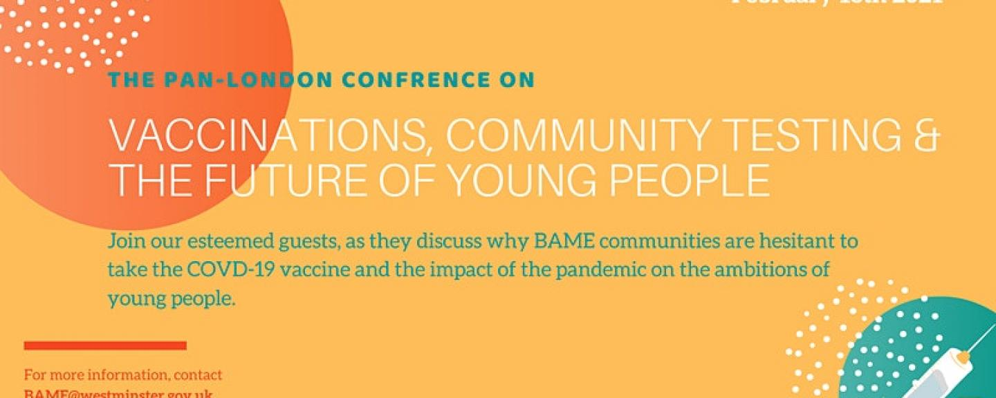 Event cover - Vaccines, Community Testing & The Future of Young People