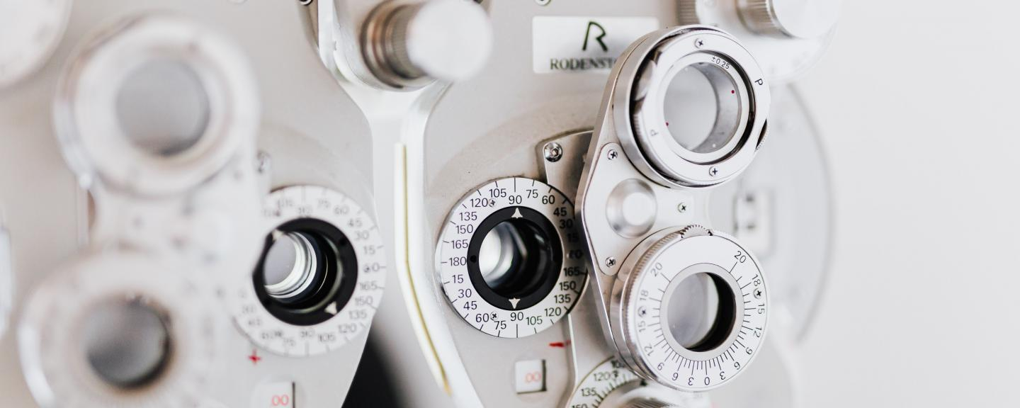 Photo of optician's equipment to check people's eyes