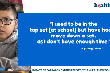 Young Carers Quote - school