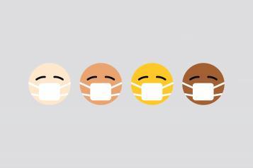 Emoji's wearing masks
