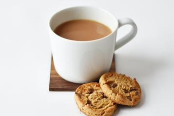 Tea and biscuits image