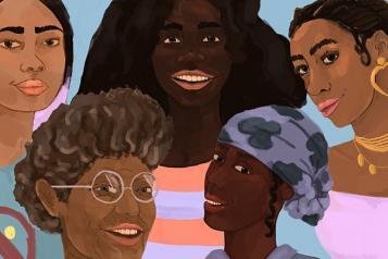 Illustration of black women