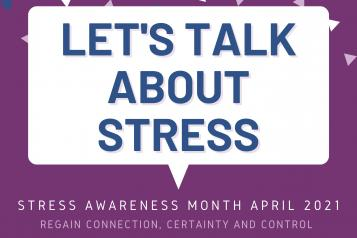 Stress awareness month image - Let's talk about stress