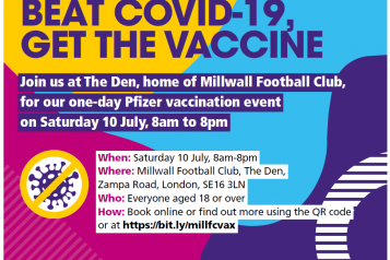 Millwall vaccine event information