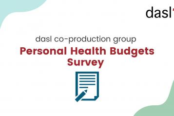 Disability Advice Service Lambeth PHBs cover image co-production group - personal health budgets survey