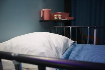 photo of bed in a hospice