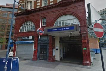 The front of Elephant and Castle tube station