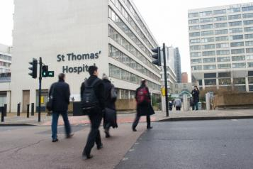 Guys and St Thomas hospital building from outside