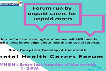 lewisham carers mental health forum engagement