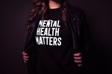 mental health matters printed on tshirt