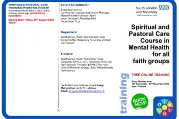 pastoral care training spiritual mental health
