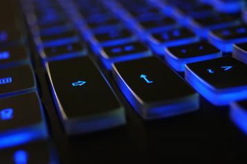 Computer keyboard lights