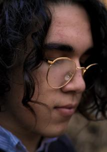 close up of woman with glasses